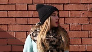 Street fashion. Cute models on the street.