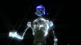 Animation of a Robot with Stars