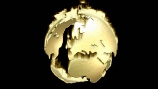 Animation of a rotating Earth Globe