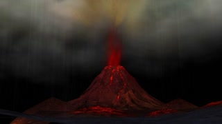 Animation of a Volcano Eruption