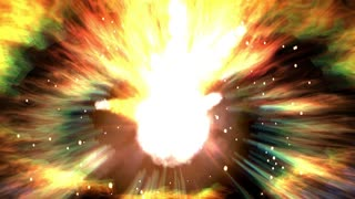 Digital Animation of a cosmic Explosion in 4K