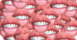 Digital animation of a quantity of appearing lips