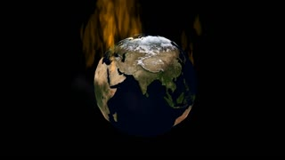 Flaming Globe Animation
