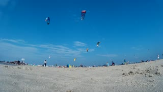 Impression of the Kitesurf World Cup in St. Peter-Ording, Germany, August 21-30 2015 - Editorial only