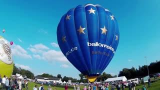 KIEL, GERMANY - JUNI 22, 2016: Hot Air Balloon Liftoff on the 10. International Balloon Sail in Kiel, Germany.