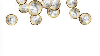 Raining Euro Coins Animation