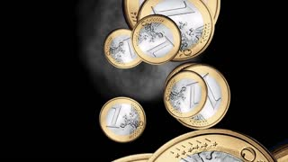 Swirling Euros Animation