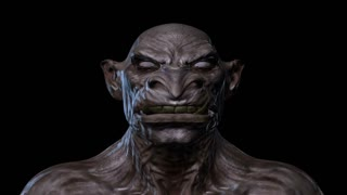 Digital 3D Animation of a morphing Creature Face