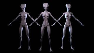 Digital 3D Animation of Aliens