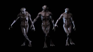 Digital 3D Animation of ugly Creatures
