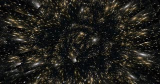 Digital Animation of a kaleidoscopic Space Scene - Elements of this Video by NASA