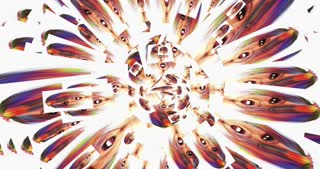 Digital Animation of kaleidoscopic Faces