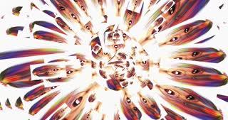 Digital Animation of kaleidoscopic Faces