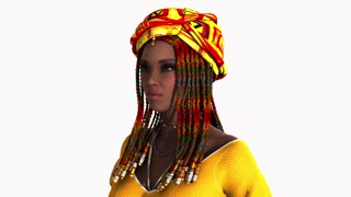 Beautiful ethnic woman fashion model smile, Africa dreadlocks
