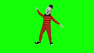 clown dancing hromakey animation