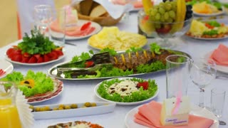 Dishes For The Wedding Banquet Table