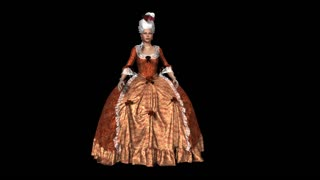 Queen ,vintage costume, dress, hairstyle, animation, alpha channel