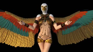 Egyptian goddess, animation, transparent background