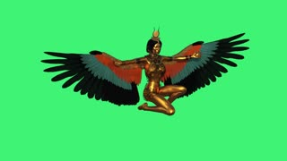 Egyptian Goddess Isis,loop,animation,transparent background