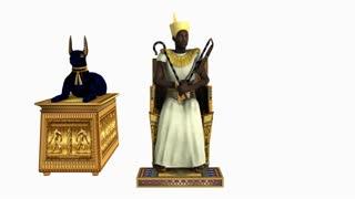Pharaoh on throne, animation, Alpha channel
