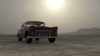the car car jumps over an obstacle, Animation