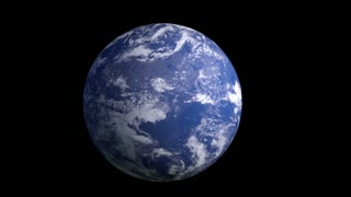 the earth model rotates around its axis,Loop, Animation, Alpha Channel ,isolated