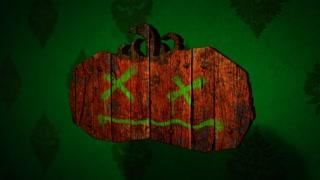 Bats & Pumpkins - Halloween Pumpkin Logo Stinger
