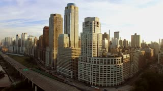 aerial view of new york city manhattan landmarks scenery