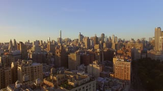 aerial view of new york city manhattan landmarks scenery