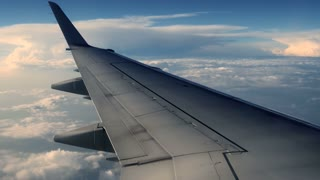 airplane wing. aircraft plane. traveling. flight. flying