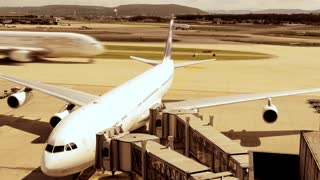 airport transportation background - airplane airport - flight flying