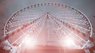 amusement park. activity fun. big wheel ride. ferries wheel