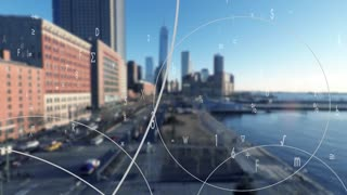 animation showing data connection network