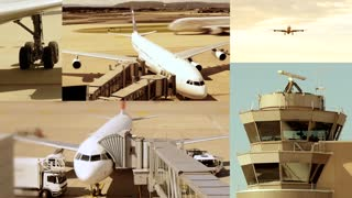 aviation background. aircraft airplane plane. airport. control towers. travel