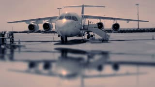 boing jet charter. aircraft plane. airport gate terminal. transportation