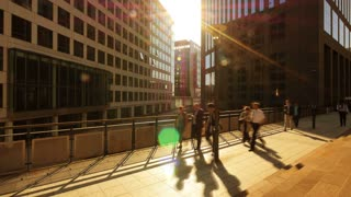 business city urban background. people waling. commuters. slow motion