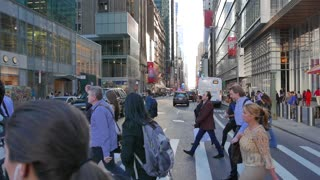 business people walking in new york city