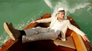 carefree young man enjoying life. relaxing activity. recreational pursuit