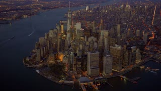 city skyline view. urban metropolis cityscape. new york city landmark