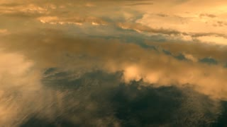 cloudy sky background. cumulus clouds. flying above the clouds