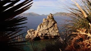 coastal shoreline view of seascape landscape panorama scenery