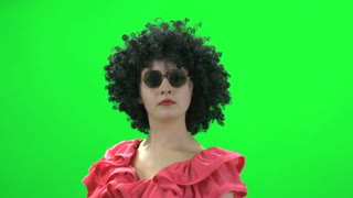 crazy women green screen