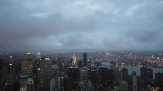 day to night time lapse nyc skyline