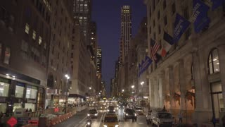 driving through new york city at night. tourism background. Shot on Red Epic