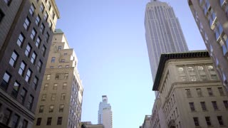 Empire state building in new york city skyline. Shot on Red Epic