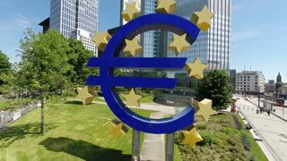 euro sign. eu. european central bank. banking frankfurt.for editorial use only