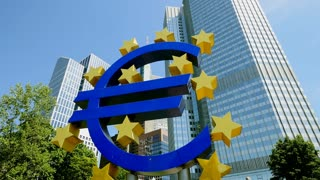 european central bank. ecb. frankfurt am main. euro currency sign