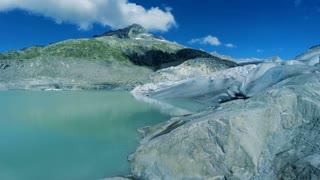 glacier landscape scenery. peaceful nature background. melting ice background