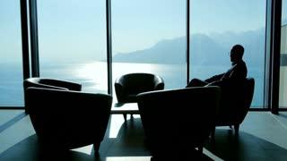handshake of businessman. meeting. discussion. client. luxury interior