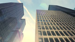 high rise buildings. modern city architecture. real estate background